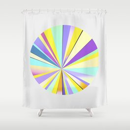 pastel sun Shower Curtain