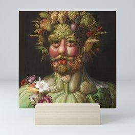 Guiseppe Arcimboldo's Rudolf II - Portrait from Fruit Mini Art Print