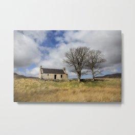 Highland Cottage. Metal Print