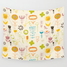 Hand Wild Floral Rainbow Wall Tapestry