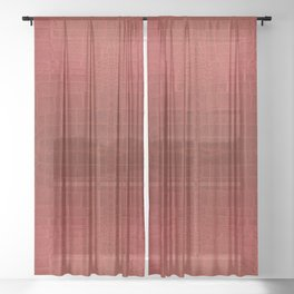 CrocLeather Red Sheer Curtain