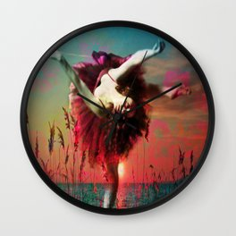 Flamingo Lagoon (Postcards from Shangri-La) Wall Clock