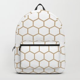 Honeycomb (Tan & White Pattern) Backpack