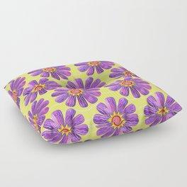 Sunburst on Yellow Floor Pillow
