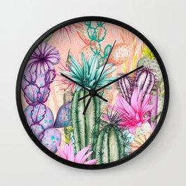 Cacti Love Wall Clock