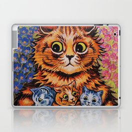 Cat and Her Kittens-Louis Wain Cats Laptop & iPad Skin