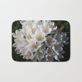 WHITE SPRING CROCUSES Bath Mat