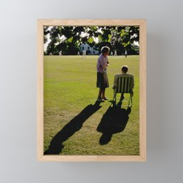 The Cricket Match Framed Mini Art Print