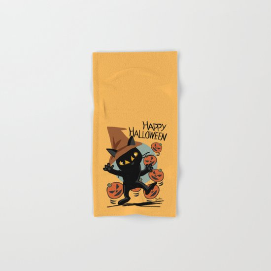 Cat Halloween Hand & Bath Towel