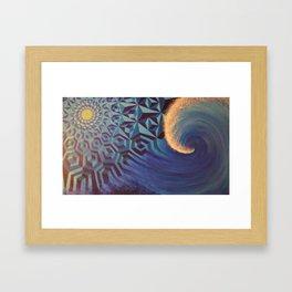 Moonlight Wave Framed Art Print