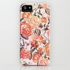 Vintage Floral Watercolor Pattern iPhone SE Slim Case