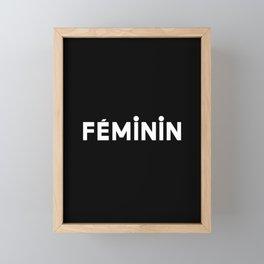 French New Wave - Feminin Framed Mini Art Print