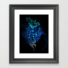 In the Keynote of Blue Framed Art Print