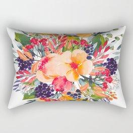 Autumn watercolor bouquet Rectangular Pillow