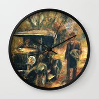 the godfather Wall Clocks featuring The Godfather. Part Two by Miquel Cazanya