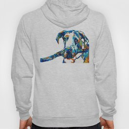 Great Dane Art - Stick With Me - By Sharon Cummings Hoody