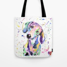 rainbow dog dachshund Tote Bag