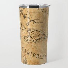 Old Nautical Map Carribeans Travel Mug