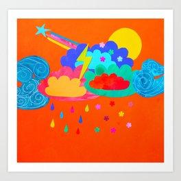 Bright Storm Art Print