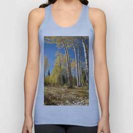 Crested Butte Colorado Fall Colors Panorama - 3 by OLena Art Unisex Tank Top