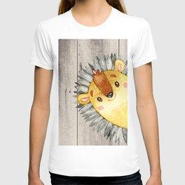 Woodland Friends - Little Hedgehog In Forest T-shirt