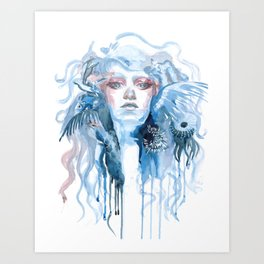Lady of the sea Art Print