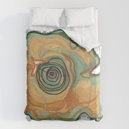 Tree Stump Series 3 - Illustration Duvet Cover