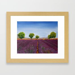 Lavender field in Provence Framed Art Print