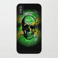 jamaica iPhone & iPod Cases featuring Jamaica circuit Skull. by seb mcnulty