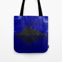 skyline Tote Bags featuring Skyline by Mi Nu Ra