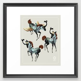 Tiny Unicorn Framed Art Print