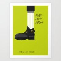 Punk Rock Polka Art Print