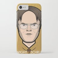 dwight iPhone & iPod Cases featuring Dwight K Schrute - The Office by Mathieu Marcou