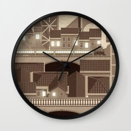 Townscape Vintage Wall Clock