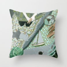 Carrot picnic Throw Pillow