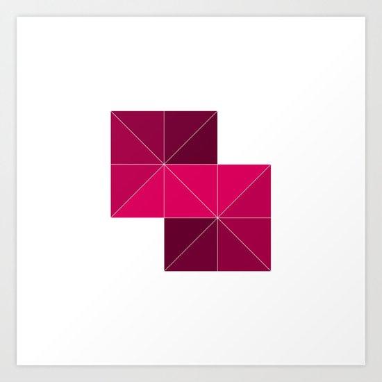 #268 Stairway – Geometry Daily Art Print