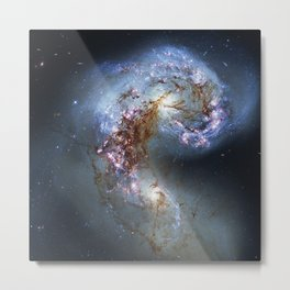Antennae Galaxies NGC 4038, NGC 4039. Metal Print