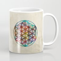 flower of life Mugs featuring Flower of Life by Klara Acel