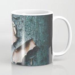 Rustic old light blue green peeling paint Coffee Mug