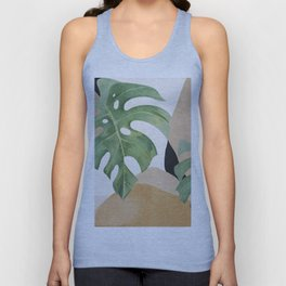 Abstract Art Tropical Leaves 3 Unisex Tank Top