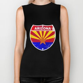 Arizona Interstate Sign Biker Tank