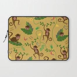 jumping cheeky monkeys yellow 03 Laptop Sleeve