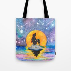 The Little Mermaid Galaxy Tote Bag