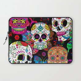 Rocking Color Sugar Skull Day Of The Dead Laptop Sleeve