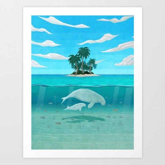 Manatee Island Art Print