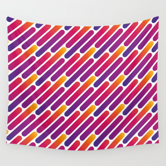 Colorful Line Pattern Wall Tapestry