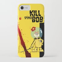 spongebob iPhone & iPod Cases featuring Kill Spongebob by thunderbloke!