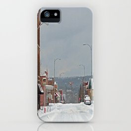 Snow in a Small City iPhone Case