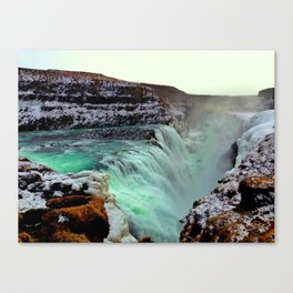 Gulfoss Falls Canvas Print