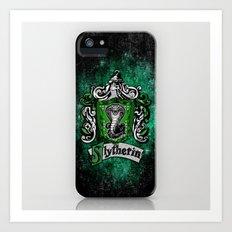 Slytherin team flag iPhone 4 4s 5 5c, ipod, ipad, pillow case, tshirt and mugs Art Print